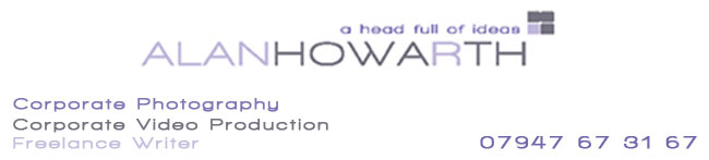 Corporate Photographer, Video Producer Alan Howarth Page Banner