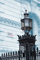lamp post outside 10 downing street, london