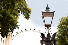 heritage lantern on whitehall with view to London eye