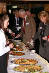 corporate event buffet lunch, lats refuge of the vol-au-vent
