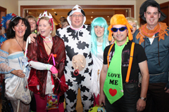 corporate event fancy dress group