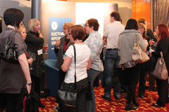 corporate event busy trade show stand